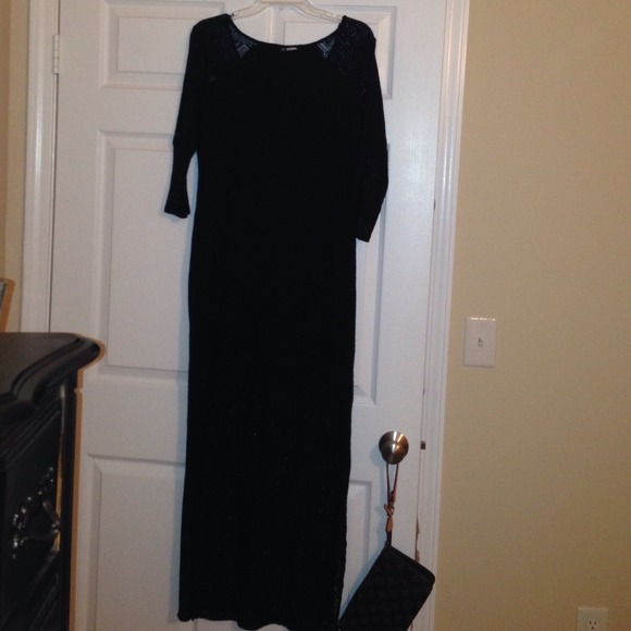 H m black evening dress 04