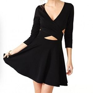 **SHORT SLEEVED VERSION** cut out dress NOT BRANDY