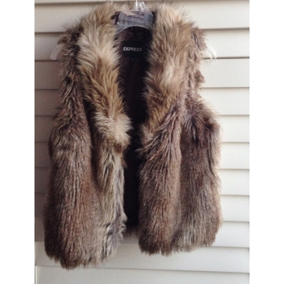Express Jackets & Coats - Faux fur vest