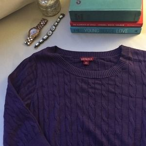 Merona Dresses & Skirts - Purple cable knit sweater dress