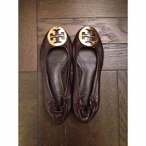 ⬇️REDUCED!!⬇️ Tory Burch Chocolate Reva Flats