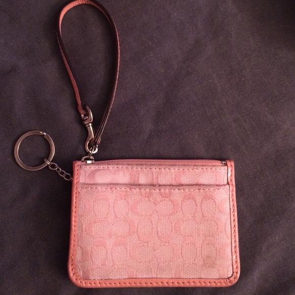 Coach Bags Baby Pink Id Coin Purse Poshmark