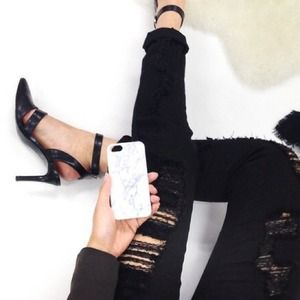 Accessories - White marble iPhone 5 (regular) phone case
