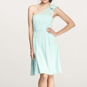 Ann Taylor Dresses & Skirts - Silk One Shoulder Dress in Mint