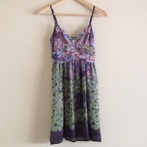 UO Ruched Chiffon Dress