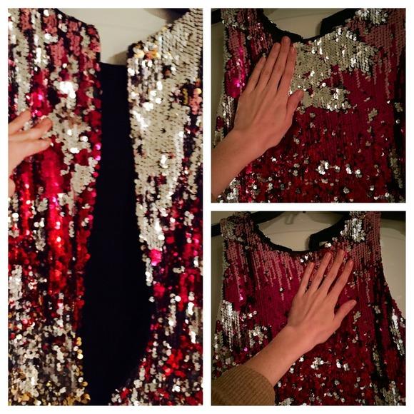 Color-change sequin dress