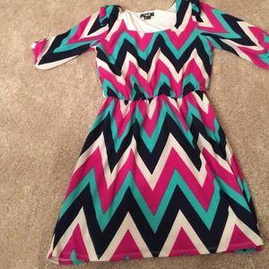 Chevron print dress.  Size S
