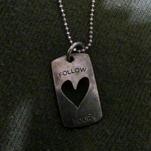 Follow your hear necklace