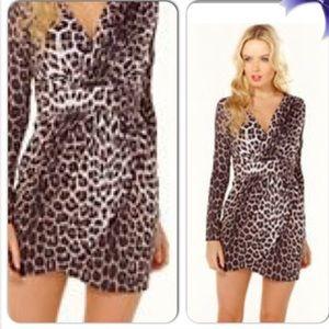 Lipsy London Dresses & Skirts - Lipsy London Animal Print Long Sleeves Dress 8