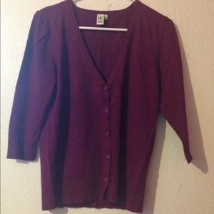 14th & Union Sweaters - V-Neck 3/4 Sleeve Cardigan