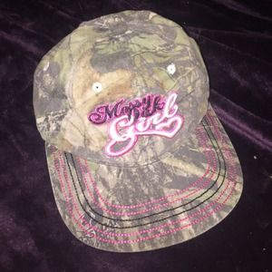 Mossy oak camo ball cap  so cute!