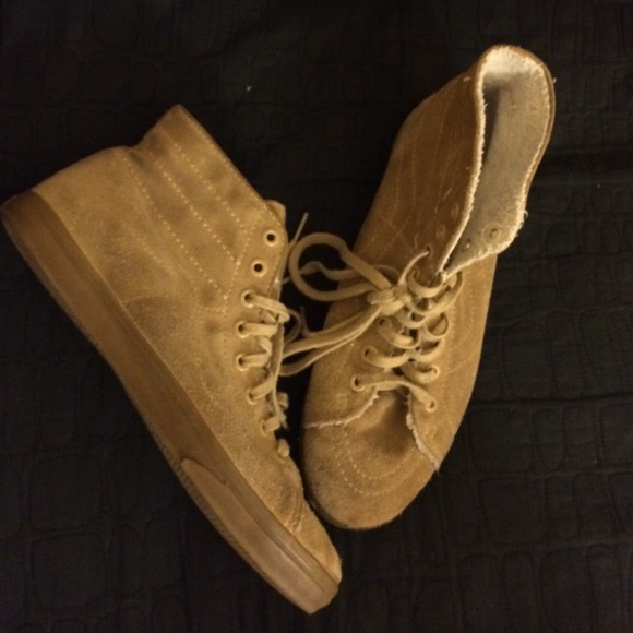 vans old skool beige high