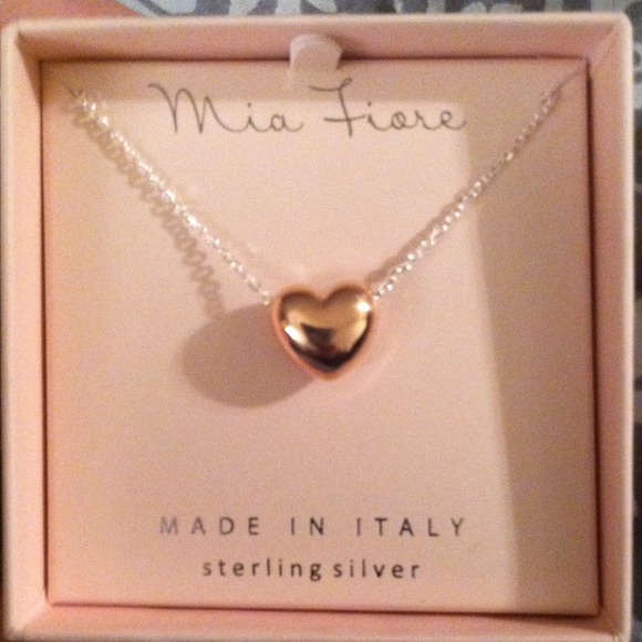 Mia Fiore Jewelry Rose Gold And Sterling Silver Heart Pendant
