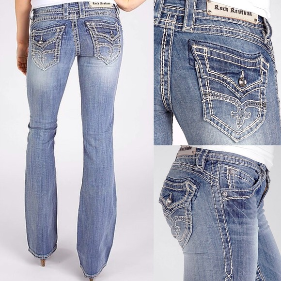 62% off Rock Revival Denim - Rock Revival Women's light wash ...