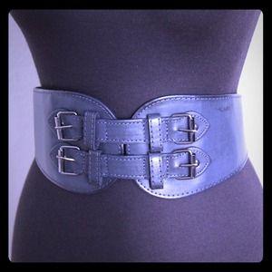 Fullah Sugah Accessories - Waist belt - bluish gray leather