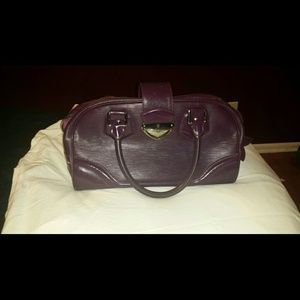 Purple Louis vuitton Epi leather bowling bag