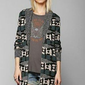 URBAN OUTFITTERS Ecote Intarsia Aztec Cardigan