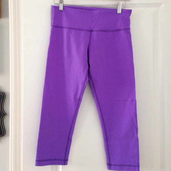 62% off lululemon athletica Pants - Lululemon purple Capri ...
