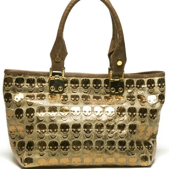 656ba7198b1a Treesje Mortale Bag (Gold Skull). M 54aab7d5a921af73712e585f