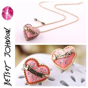 Betsey Johnson Earring and Necklace Bundle