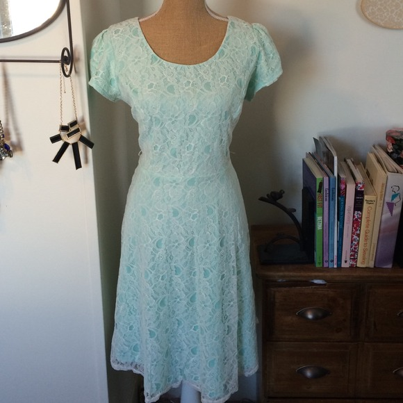 Maurices - Mint and white lace dress. NWOT from Chelsey\'s closet ...