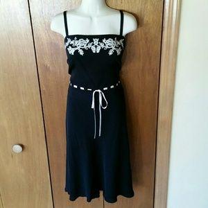 Ann Taylor - LOFT Black Silk Cocktail Dress