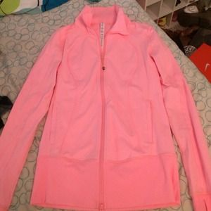 coral lulu lemon jacket