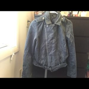 Forever 21 Moto suede jacket. Size small