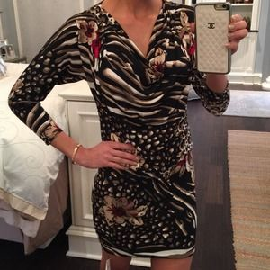 NWT Cache animal print dress size small