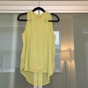 Anthropologie Maeve Chartreuse/Bright Yellow Top