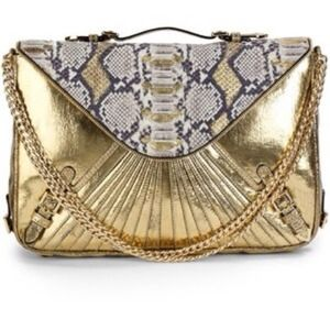 Rebecca Minkoff Handbags - Rebecca Minkoff Collection Snake Embossed Clutch
