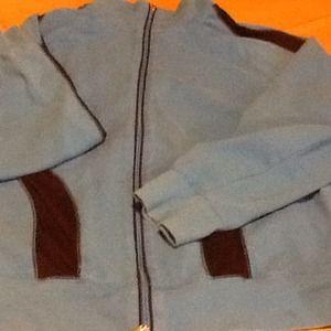 Turquoise /black track jacket