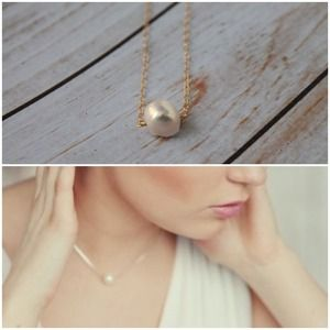Freshwater Pearl Dainty Necklace | Gold Filled