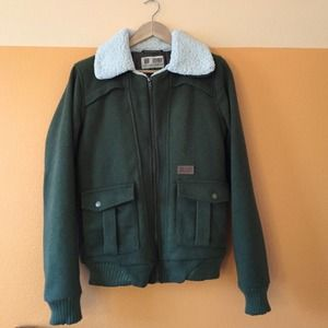 Volcom Forest Green Bomber Jacket