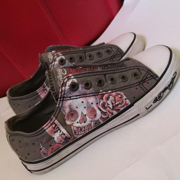 713056e647 ⭐️price drop⭐️Ed Hardy shoes LIKE BRAND NEW. M 54ab37cf7920747a4231f90e