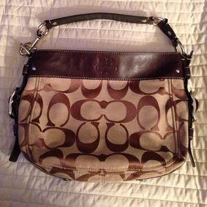 COACH Signature Series Shoulder Bag