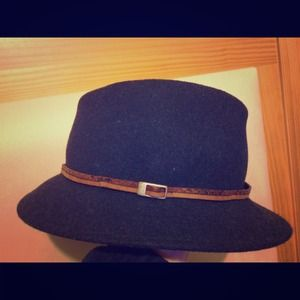 Nordstrom Navy Fedora Made In Italy