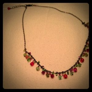 """Stunning Necklace with Beads ~ 16"""""""