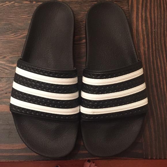 5e21bc96312c Adidas Shoes - Adidas Adilette slides Black size 6 (women 7)