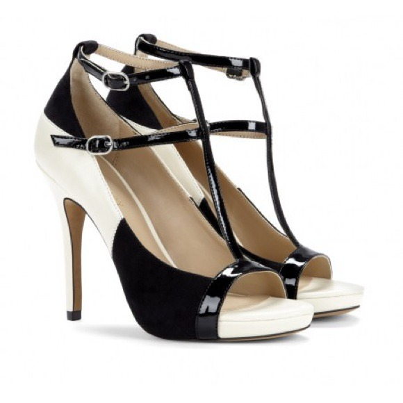 Sole Society - Sole Society Black/Cream High Heels from Connie's ...