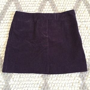 J. Crew dark purple corduroy mini skirt
