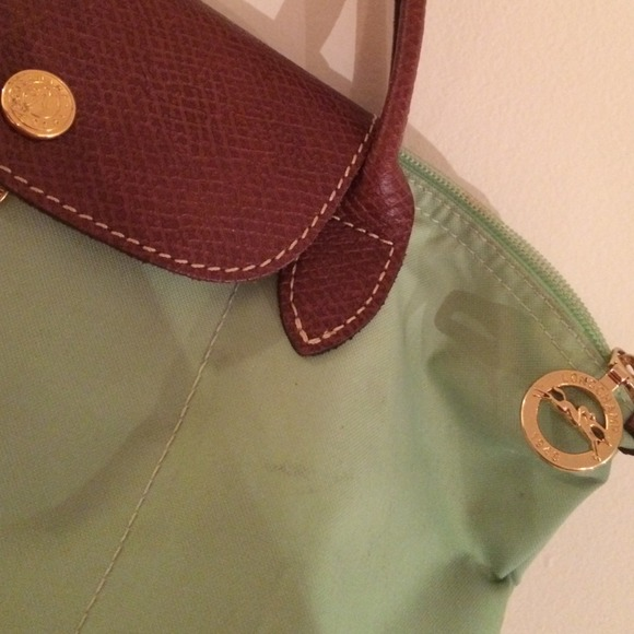 ac99db66d933 70% off Longchamp Handbags - Mini longchamp short handle mint green purse  from Bethany s closet on Poshmark