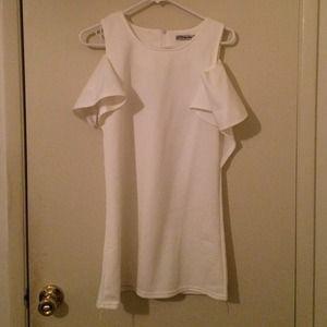 Pure white off shoulder dress