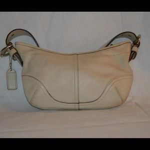 Coach beige small handbag