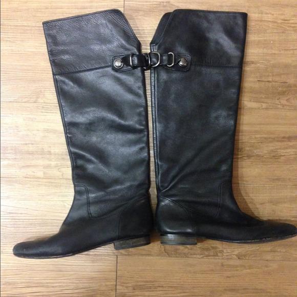 52 coach shoes authentic coach black leather boots