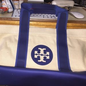 Authentic tory burch large tote bag