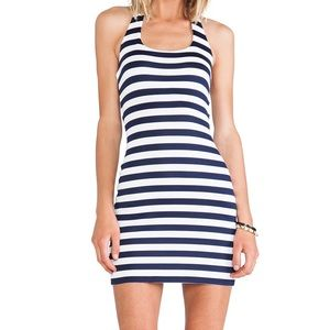 Juicy Couture Dresses & Skirts - Juicy Couture Striped Navy & Off-White Minidress