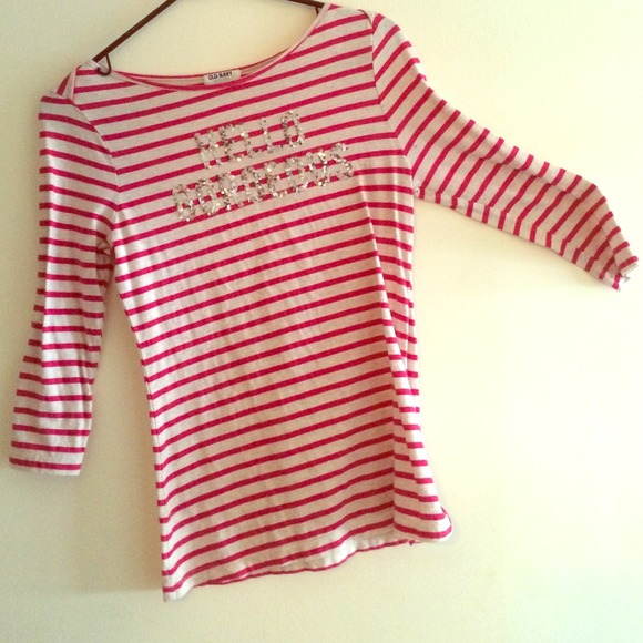 72 Off Old Navy Tops Old Navy Boat Neck 3 4 Sleeve