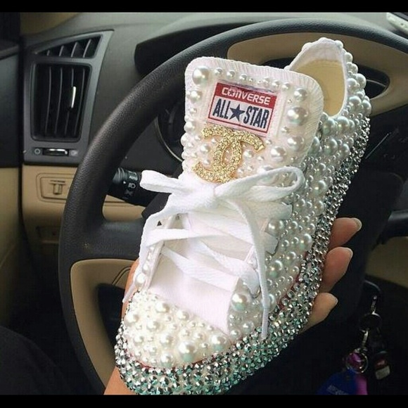 319ebbdcd0b4 Custom Blinged Shoes
