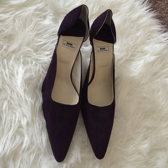Ron Donovan suede purple Heels made in italy 11 from Caroline's ...